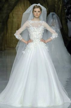 Gown. Elie Saab in collaboration with Pronovias