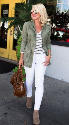 Olive Jacket Outfit, Green Jeans Outfit, Military Jacket Outfits, Utility Jacket Outfit, Olive Green Outfit, Olive Green Jeans, Green Utility Jacket, Green Blazer, Cargo Jacket