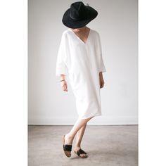 Linen V-Neck Caftan / Rachel Craven Textiles