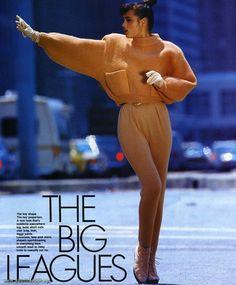 "Elle US September 1985 ""The Big Leagues"" Model: Yasmin Le Bon ph: Marc Hispard"