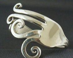 Eco-Friendly Upcycled Antik Besteck Löffel Schmuck Gabel Armband
