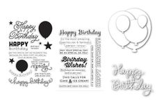 Birthday Balloon Bundle from Simon Says Stamp - stamps & dies perfect for every birthday project