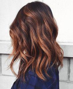 Hair Color Ideas For Brunettes Short, Hair Color For Women, Hair Color For Black Hair, Hair Cuts And Color Ideas, Hair Ideas, Balayage Hair Brunette Straight, Red Balayage Hair, Auburn Balayage, Lighter Brown Hair