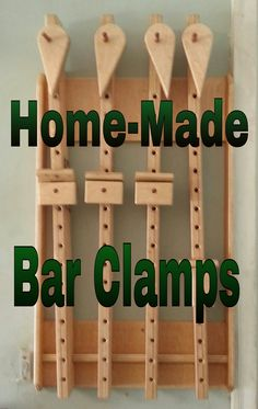 Homemade Bar Clamps! These are simple and look easy to make. Not for high pressure but for a lot of projects.