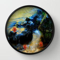 Willow River Falls Wall Clock