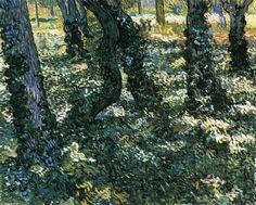 """""""Unterholz"""", öl auf leinwand von Vincent Van Gogh (1853-1890, Netherlands)"""