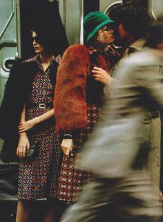 1971-72 - Saint Laurent Rive Gauche by Hans Feurer for Elle France - September 6, 1971