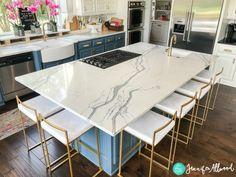 Blue Kitchen Island Jennifer Allwood 2