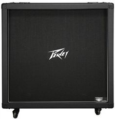 "The Peavey 430B Straight loudspeaker enclosure is loaded with four 12"" Stephens™ Tru-Sonic™ V30 speakers in a switchable stereo/mono configuration, and rated at 120 watts max power handling at 16 ohms."