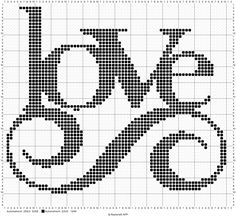 Love x-stitch 72/64