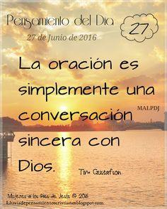 Lluvia de Pensamientos Cristianos: Una conversación con Dios