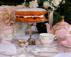 Victoria Sponge the perfect cake for a Downton Abbey themed vintage afternoon tea.