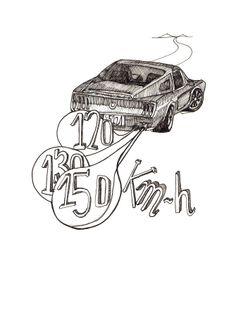 Stolen Car. Car Illustration, Accessories