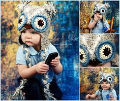 Handmade Crochet Frosty Owl Hat for boys, girls and kids of all ages