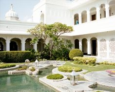 Garden at the Taj Lake Palace, Rajasthan, India