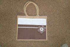 leuke tas gemaakt van een albert heijn tas