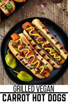 Don't raise your brows before trying these Vegan Carrot Hot Dogs first, for they are delicious! They are also very easy to make- just steam, marinate