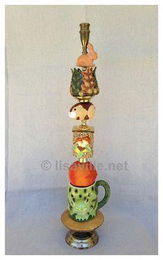 WOODLAND Treasure Stick   FUN WHIMSICAL candlestick by Lisaville, $195.00