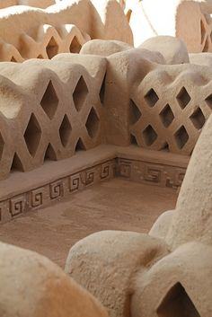 Palace, Chan Chan, Chimú ruins on the dry Peruvian coast ~ world's largest adobe city ever built ~ UNESCO World Heritage Site
