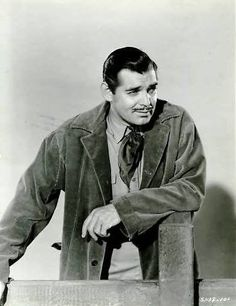 Clark Gable for Boom Town After the film, fans sent Gable miniature oil . Vintage Movie Stars, Vintage Movies, Old Hollywood Stars, Hollywood Actor, Rhett Butler, Clark Gable, Gone With The Wind, Film Music Books, Classic Movies
