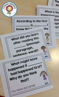 Text-Dependent Question Stems - Get your students working directly with the text by using the questions included in this 32 page resource. Your 3rd, 4th, 5th, or 6th grade classroom or homeschool upper elementary students will learn so much when you incorporate this into your reading lessons each day! Low prep and easy to use too! #Reading #QuestionStems #UpperElementary Reading Lessons, Reading Skills, Teaching Reading, Guided Reading, Learning, 6th Grade Ela, Third Grade, Fourth Grade, Dok Question Stems