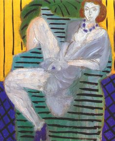 Woman in Armchair (Blue andYellow Background)by Henri Matisse, 1936