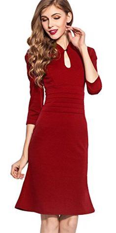 0952a145c8b Homeyee® Women s Celebrity Vintage Puff Tunic Prom Dress (US Size Black)