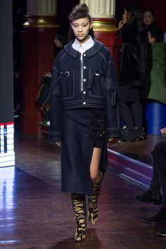 Kenzo Fall 2016 Ready-to-Wear Collection Photos - Vogue...fab jacket, love those ties thru grommets...