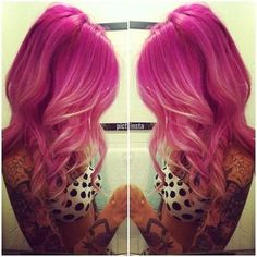 Pink Hair with White Highlights