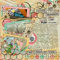 "Layout: I Do Art by Wendy     Template: Now Showing Templates by Scrapping with Liz    Reasons CTM Loves: ""Distressed background paper paired with journaling that is easily read, all the tucking of elements with artful disarray and THE OWL -- she needs to make me one!!!"""
