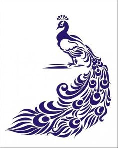 Peacock Stencil by Artisan mil mylar stencil for raised or flat design. Elevante your DIY style with stencils. Stencil Patterns, Stencil Art, Stencil Designs, Feather Stencil, Feather Drawing, Animal Stencil, Bird Stencil, Peacock Drawing Simple, Damask Stencil