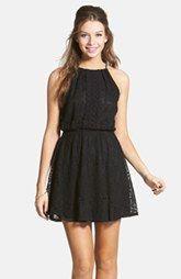 Lush Lace Blouson Dress (Juniors)