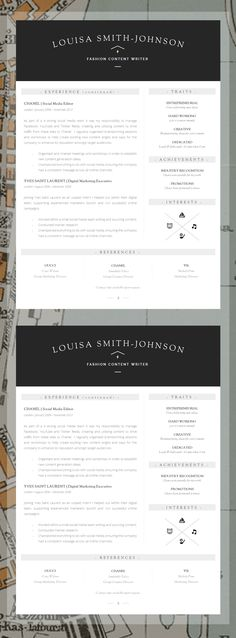 Resume Template Instant Download Professional Resume Template For - word resume template mac