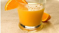 Orange juice... cure for fatigue: The fructose in a 4 oz glass is a perfect pick-me-up. Some studies suggest that vitamin C's ability to combat oxidative stress caused by free radicals may provide energy, and the vitamin plays a key role in metabolizing iron, which helps your body move energizing oxygen through your bloodstream.