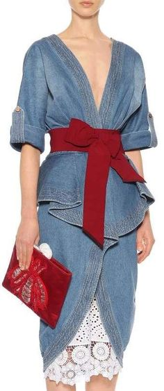 Johanna Ortiz Casual and day dresses for Women Fashion Moda, Denim Fashion, Boho Fashion, Fashion Dresses, Womens Fashion, Fashion Design, Style Fashion, Casual Chic, Casual Wear