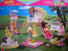 Arcotoys, Mattel 67728-91 Barbie KELLY Playground Playset (1998 )
