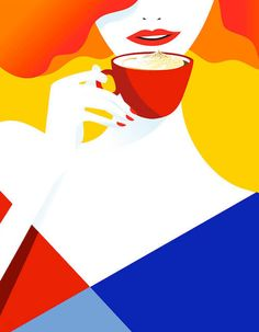 Few years ago we introduced the illustration work of Finnish artist Pietari Posti. Since then, his style changed a bit by simplifying his drawings down to clean lines and crisp, bold shapes. Art And Illustration, Illustrations And Posters, Graphic Design Illustration, Graphic Art, Flowers Wallpaper, Poster Photo, Frida Art, Art Watercolor, Cafe Art