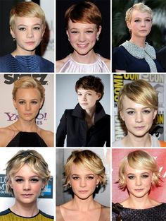 How to grow out a pixie cut. short-hair I love Cary mulligan!! I even cut my hair like hers-tiff