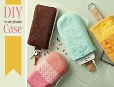 "DIY // Ice Pop Smartphone Case.  This is so ""cool"".  lol...  Thanks for thinking of me Gretchen!"