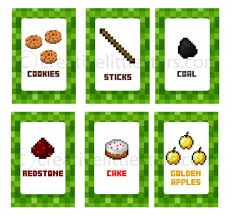minecraft food signs printable - Google Search