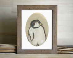 Baby Penguin Kunstdruck, Penguin Wandkunst, Penguin Gemälde, thepaintedgrove