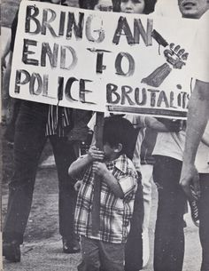 """xicanism: """"Vintage photo from a 1971 Chicano demonstration against police brutality in East Los Angeles. Protest Art, Protest Signs, Protest Posters, Chicano Love, East Los Angeles, Power To The People, Punk, Social Issues, Tumblr"""
