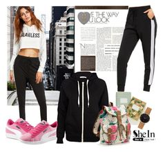 """Black Sweat Pants"" by autumn-soul ❤ liked on Polyvore featuring Børn, Rifle Paper Co, Puma, River Island, Mulberry, Accessorize and Abbott Lyon"