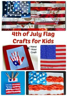 4th of July Flag Crafts for Kids | The Jenny Evolution