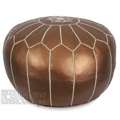 Stuffed Moroccan Pouf, Pouffe, Ottoman, Poof, Color : Matte Bronze:Amazon:Everything Else