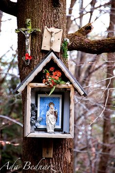 Catholic - Shrine to the Virgin Mary and Jesus by adrienne.bednarz, via Flickr