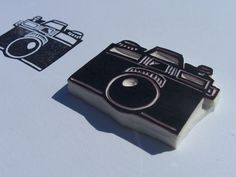 Camera - Hand Carved Rubber Stamp Idea