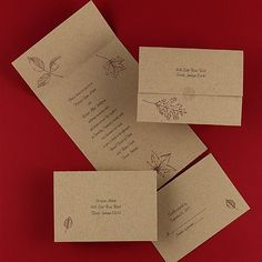 Kraft seal and send wedding invitations