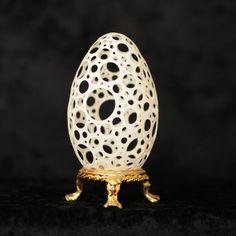 Ostrich Egg Shell Art by Brian Baity