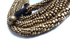 Long necklace. 101cm. Brass.